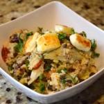 Mediterranean Quinoa Salad With Grilled Haloumi Cheese