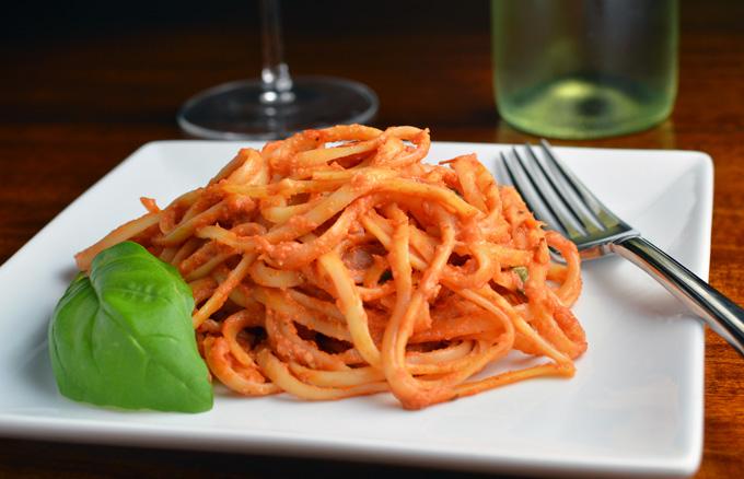 Pasta al Pomodoro e Formaggio - Chef Times Two