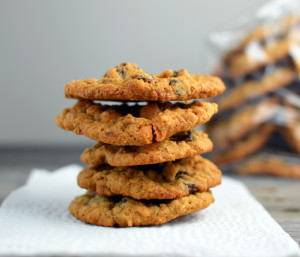 Chewy Butterscotch Oatmeal Raisin Cookies