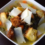 Rustic Tuscan Soup with Rosemary Infused Croutons