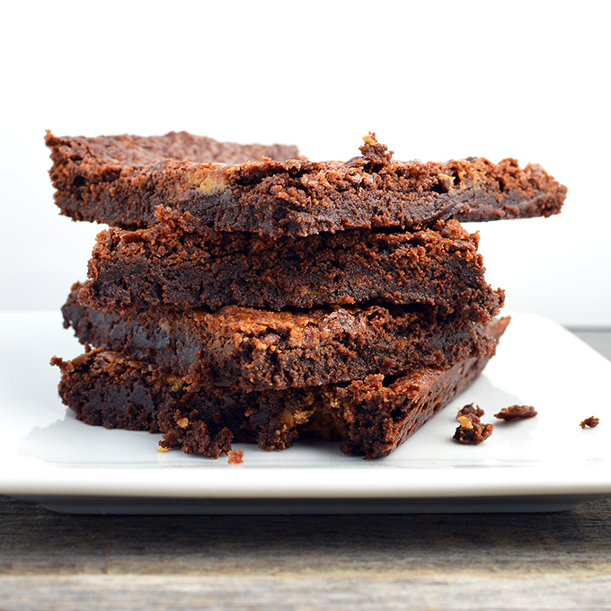 Chocolate Peanut Butter Brownie Thins - Chef Times Two