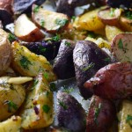 Garlic Herb Rainbow Potatoes