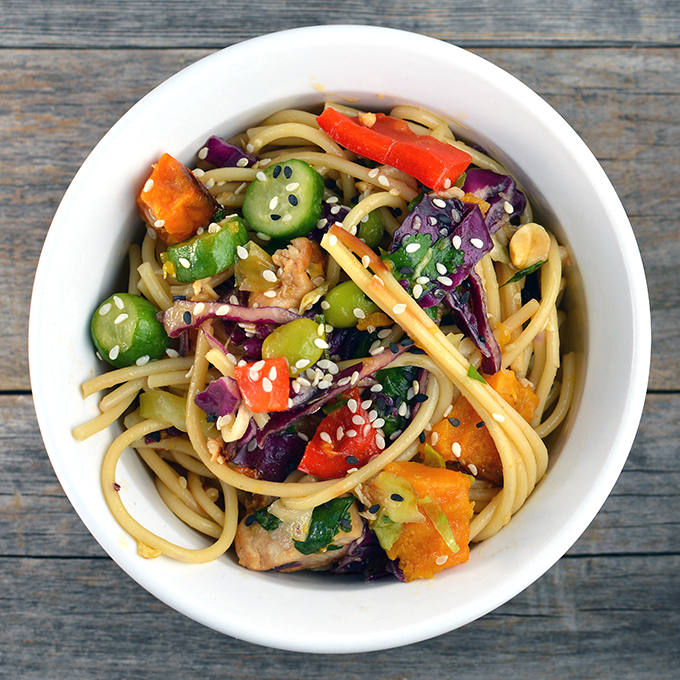 Asian chicken noodle salad simply remarkable