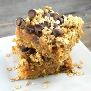 Gooey Oatmeal Peanut Butter Bars