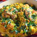 One Pot Mediterranean Chicken and Couscous