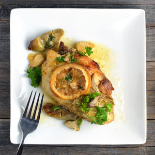 Lemony Garlic Chicken With Artichokes