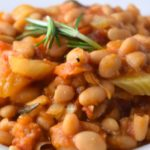 Warm Mediterranean White Bean Salad
