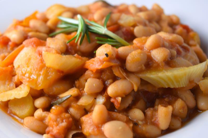 Warm Mediterranean White Bean Salad