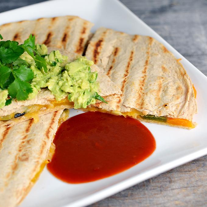 Vegetable Fajita Quesadillas