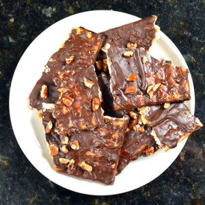 Sinful Chocolate Toffee Matzah