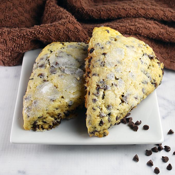 Gooey Chocolate Chip Scones