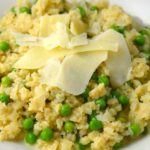 Riced Cauliflower Risotto With Peas