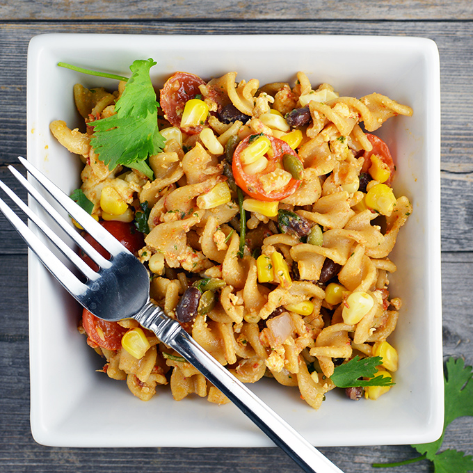 Southwestern Pasta Salad With A Kick