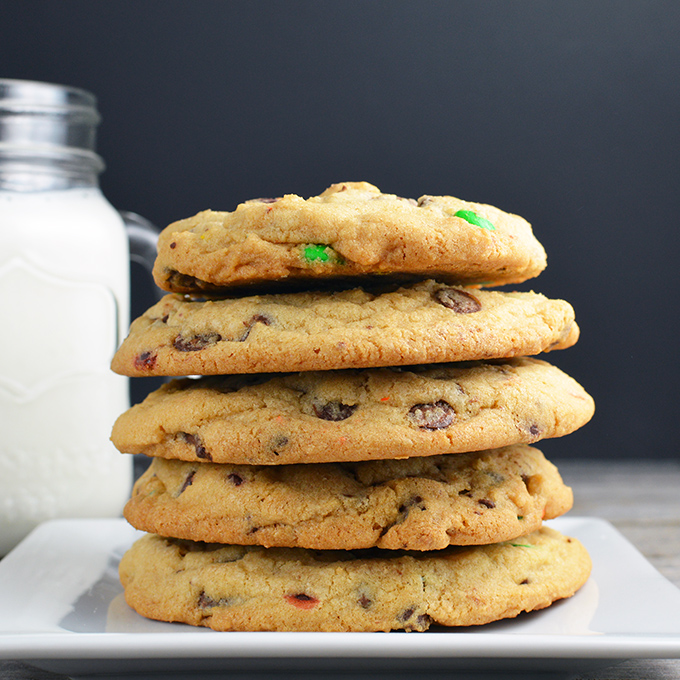 Chewy Gooey Chocolate Chip M&M Cookies